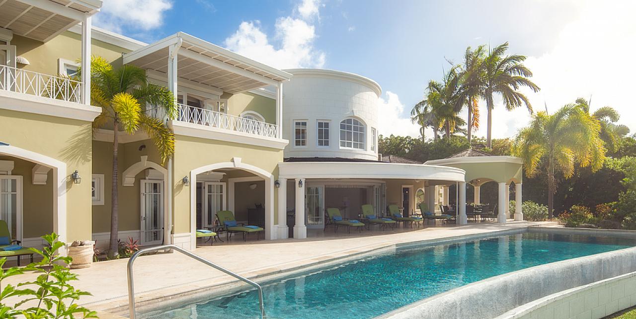 Monkey Hill Villa - main pool aspect